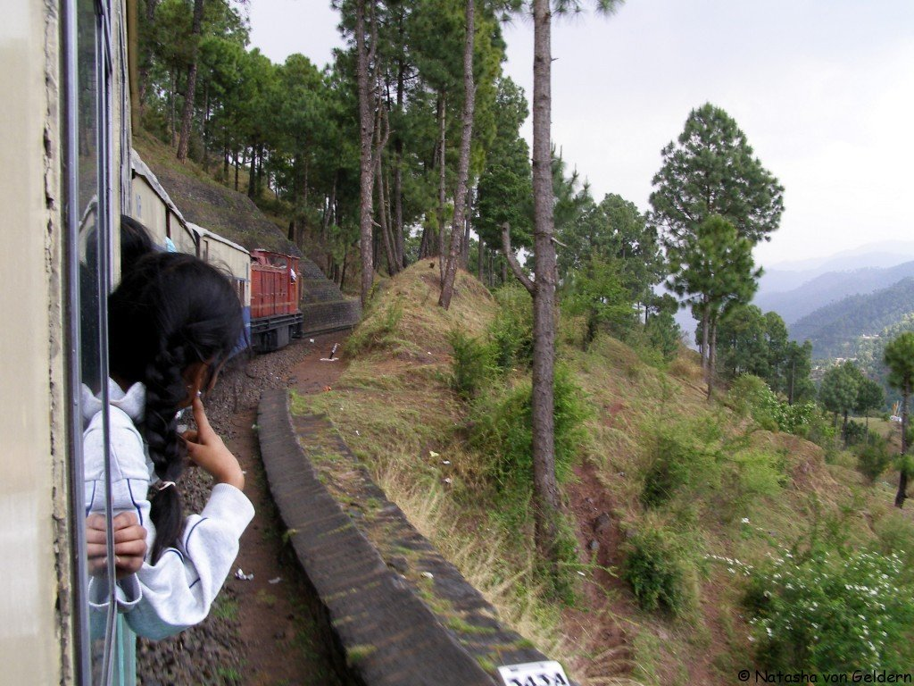The toy train to Simla, India