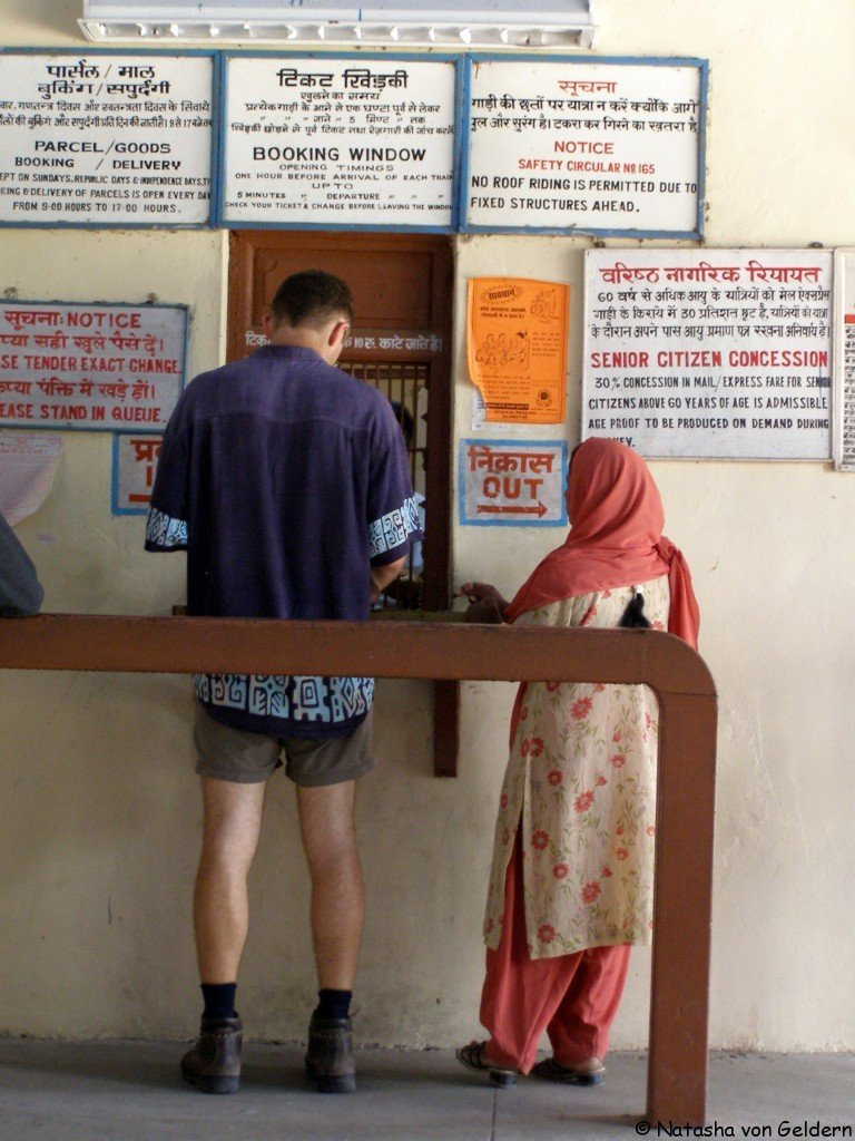Buying a train ticket in India