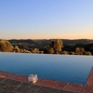 Sunset by the pool in Chianti  what a perfecthellip