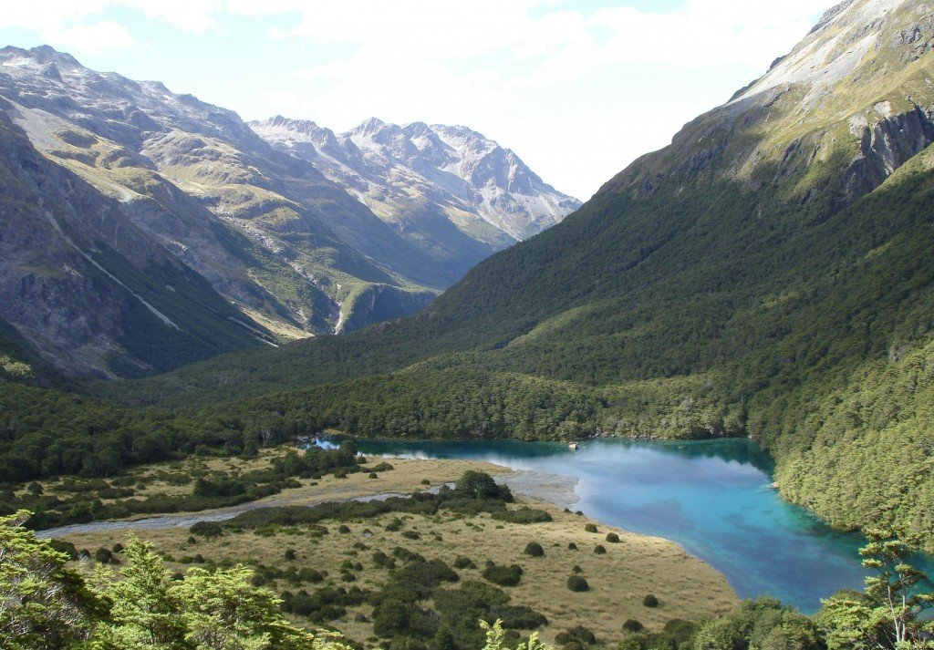 Blue Lake and upper Sabine Valley, New Zealand