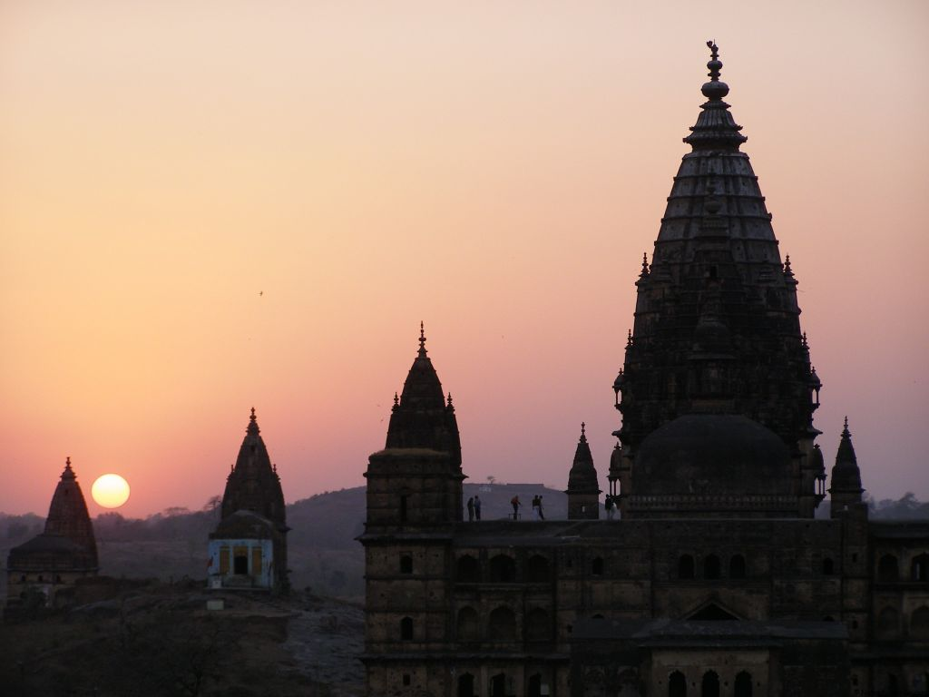 Orccha temples sunset, India