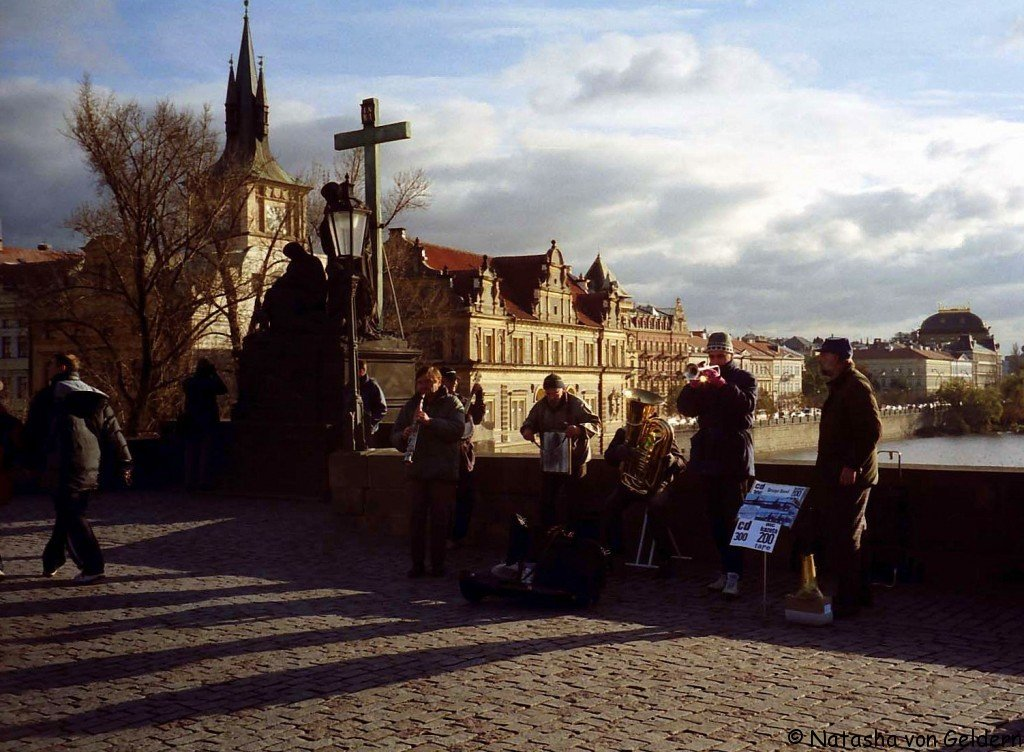 Prague, Buskers on Charles Bridge, Czech Republic