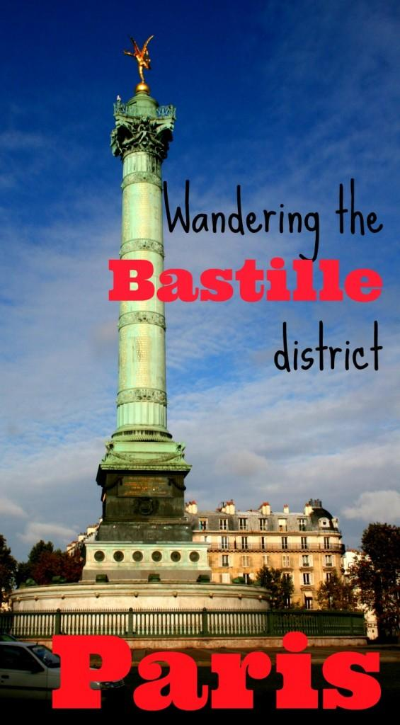 Exploring Bastille district in Paris