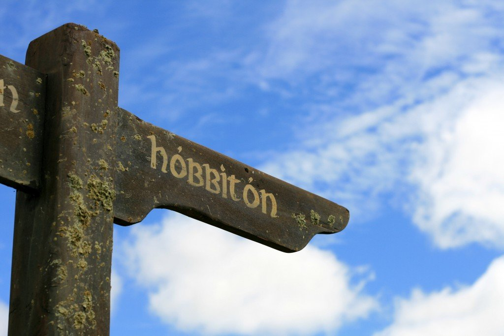 Hobbiton sign, New Zealand