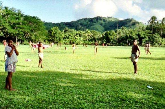 Fiji children playing