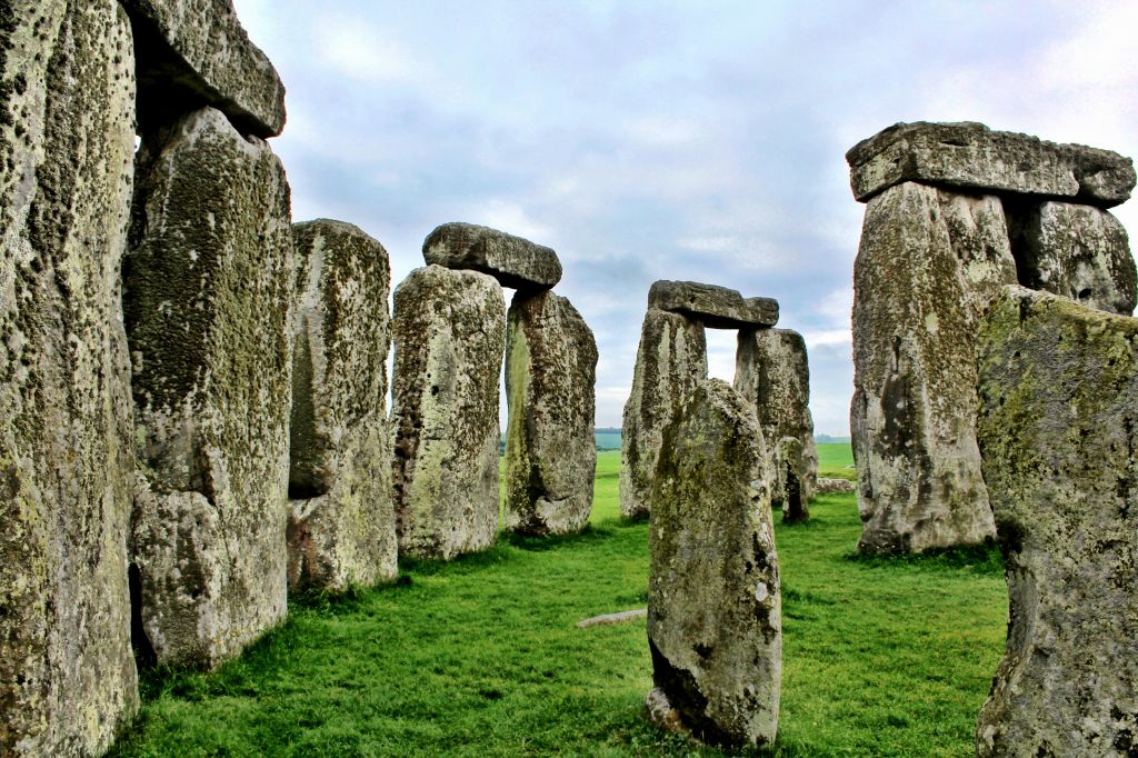 Inside the circle at Stonehenge, England