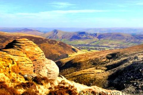 Kinder Scout Edge walk, Derbyshire Peak District