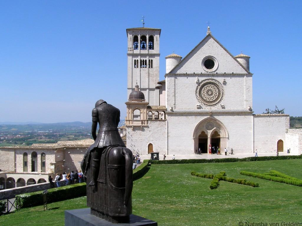 The basilica of St Francis in Assisi, Italy