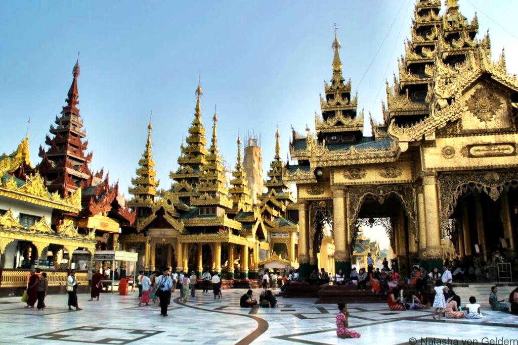 Visiting the Schwedagon Pagoda Yangon Myanmar