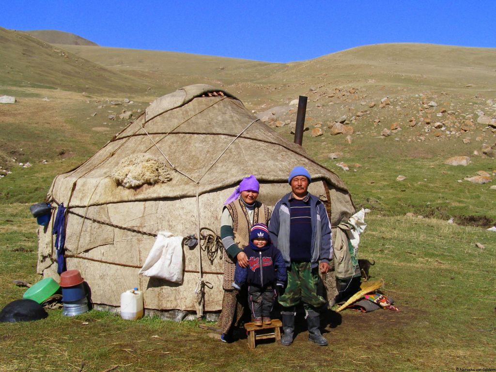 Yurt in Kyrgyzstan, Central Asia