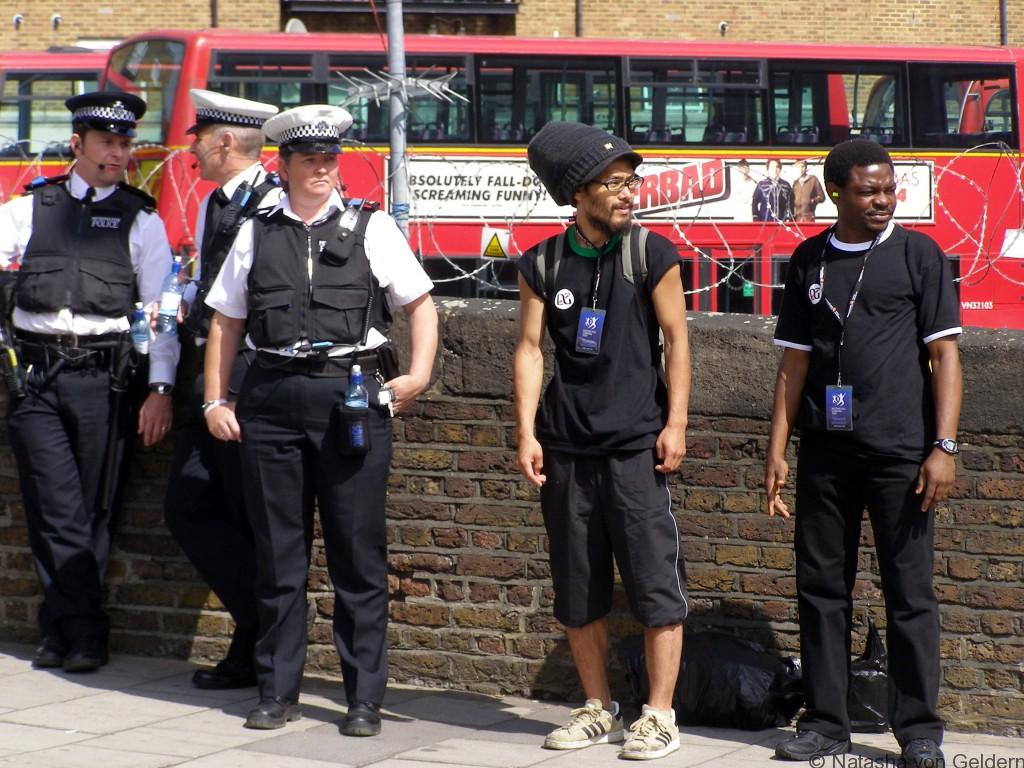 Cops at Notting Hill Carnival, London