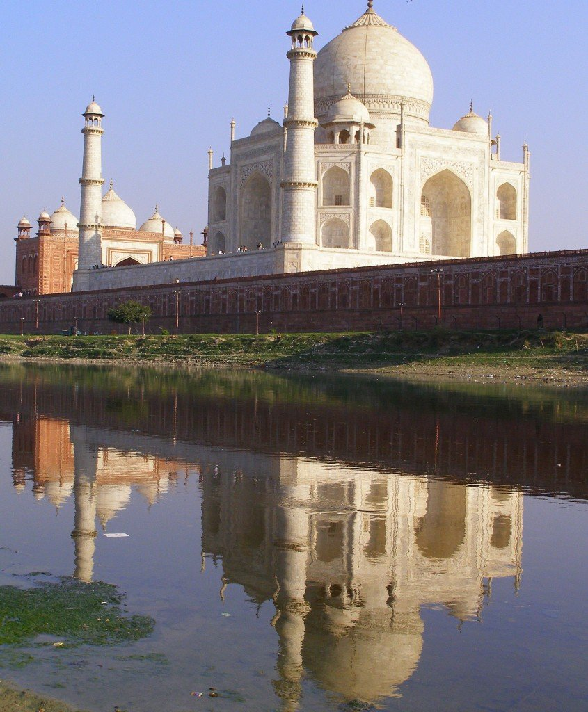 Taj-Mahal-reflected-in-the-Jamuna-river-Agra-India
