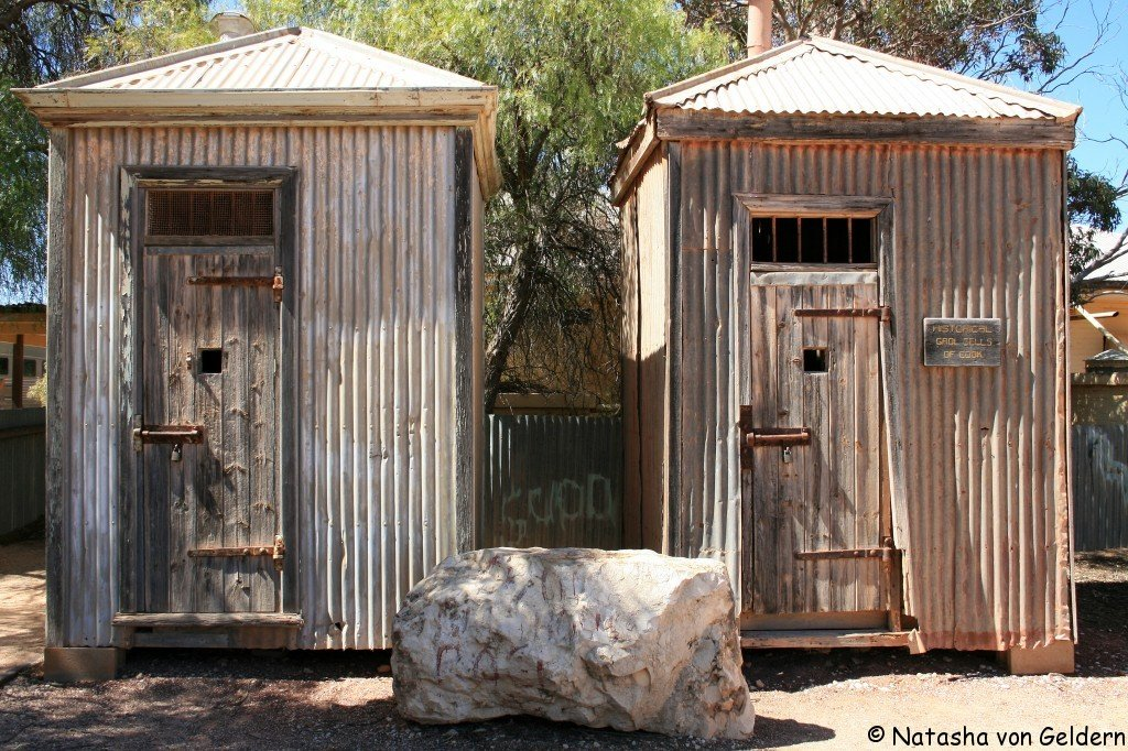 Cook police cells, Indian Pacific rail journey, Australia