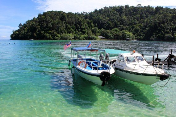 Boats in Tunku Abdul Rahman Park, Malaysia