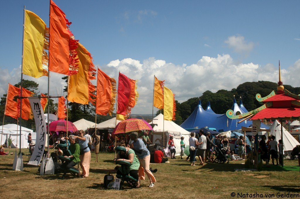 Holistic massage at Camp Bestival