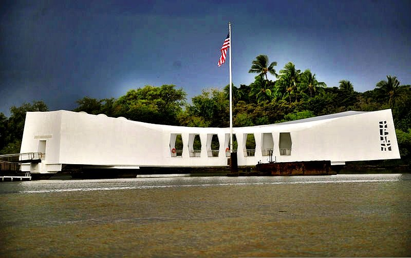 USS Arizona Pearl Harbour memorial in Oahu, Hawaii
