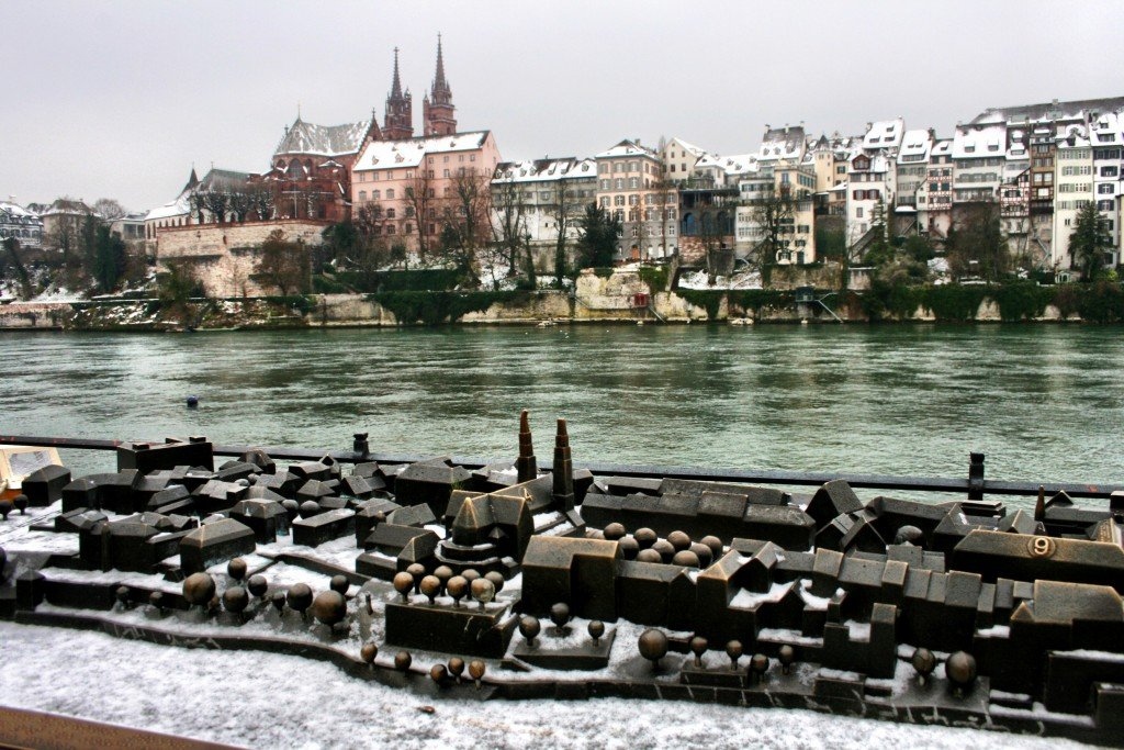 Basel Rhine River and Old Town, Switzerland