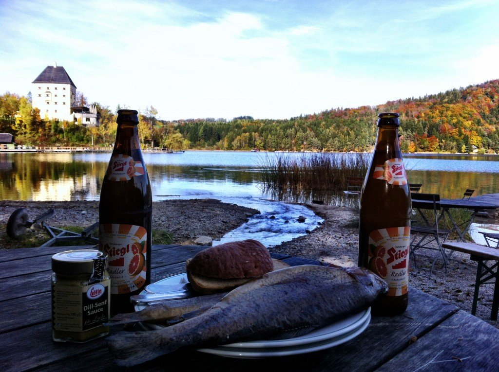 Fischerei lunch by Lake Fuschl, Salzburg day out