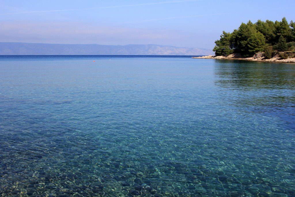 Grebisce beach on Hvar, Croatia