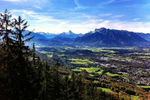 View from the Gaisberg trail, Salzburg, Austria