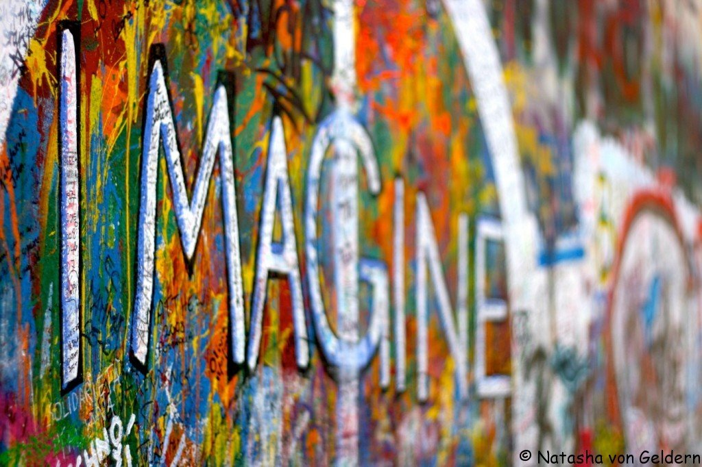 Lennon wall in Prague