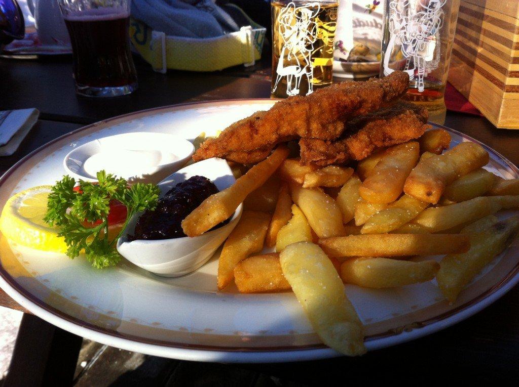 Schnitzel - Austrian traditional food in Hochkonig