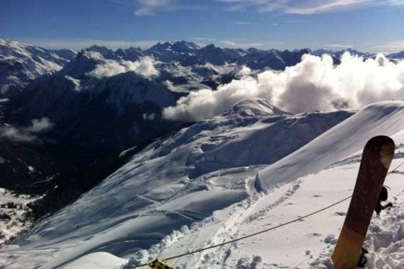 Skiing in La Plagne, France