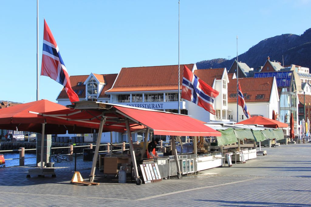 Bergen markets on the wharf, Norway