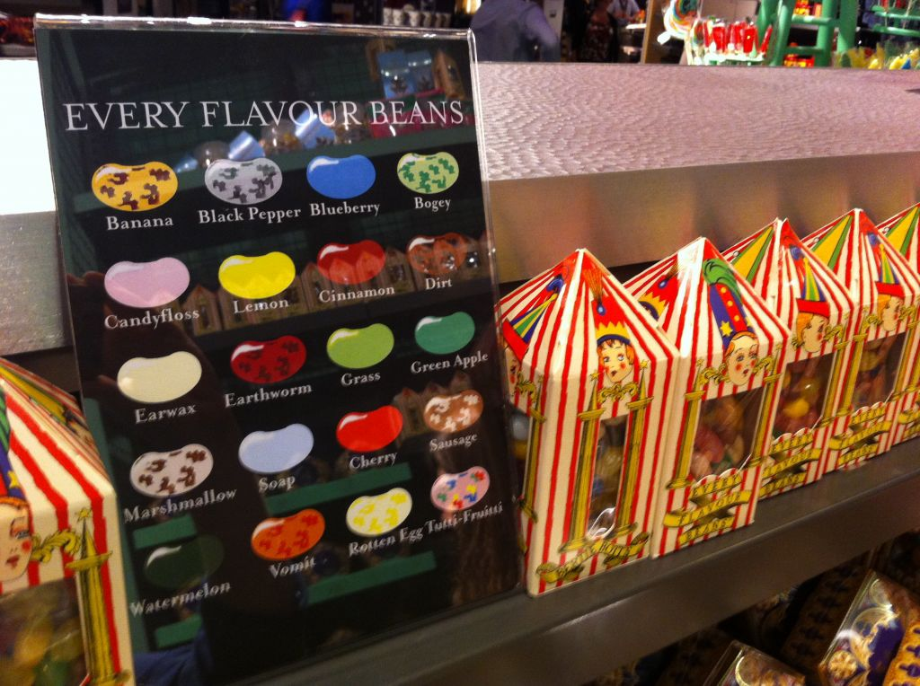 Every flavour beans at Harry Potter Studio Tour