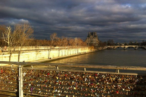 Paris lovelocks Pont des Arts-001
