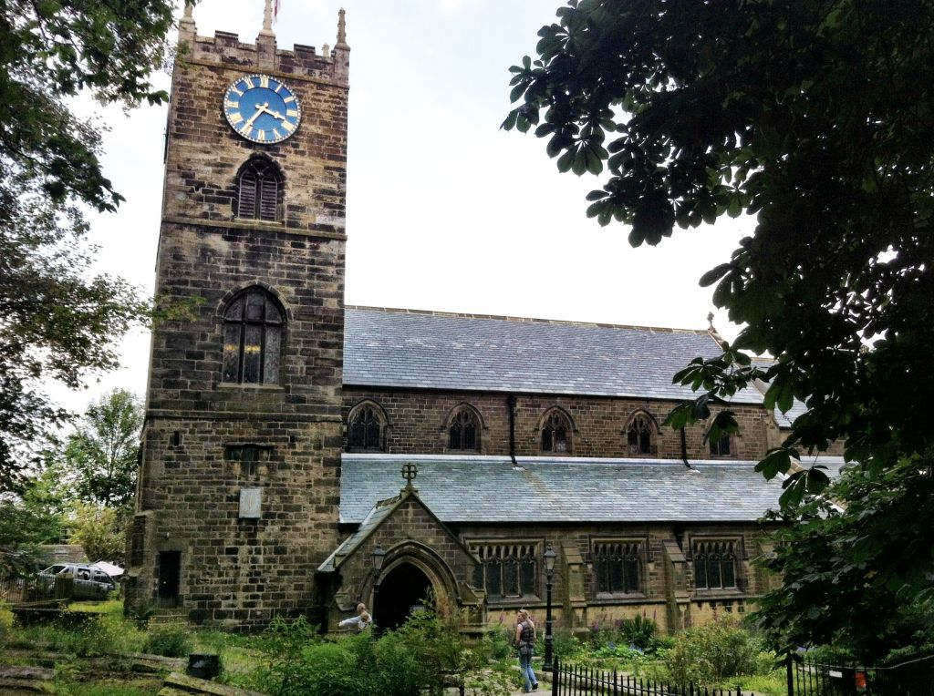 The church in Haworth, England