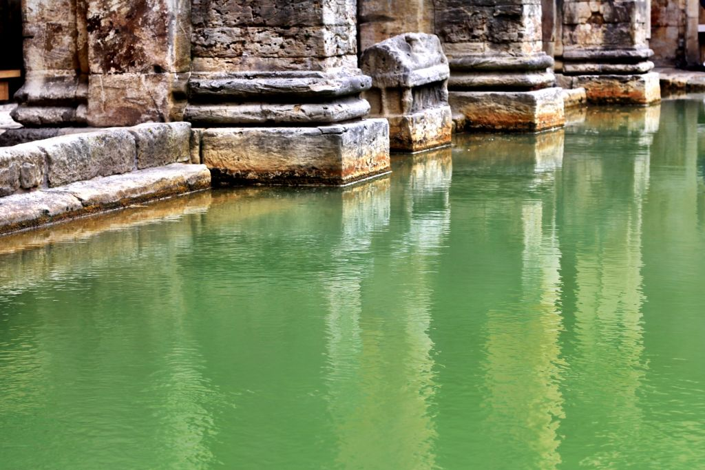 The waters at the Roman Baths, England