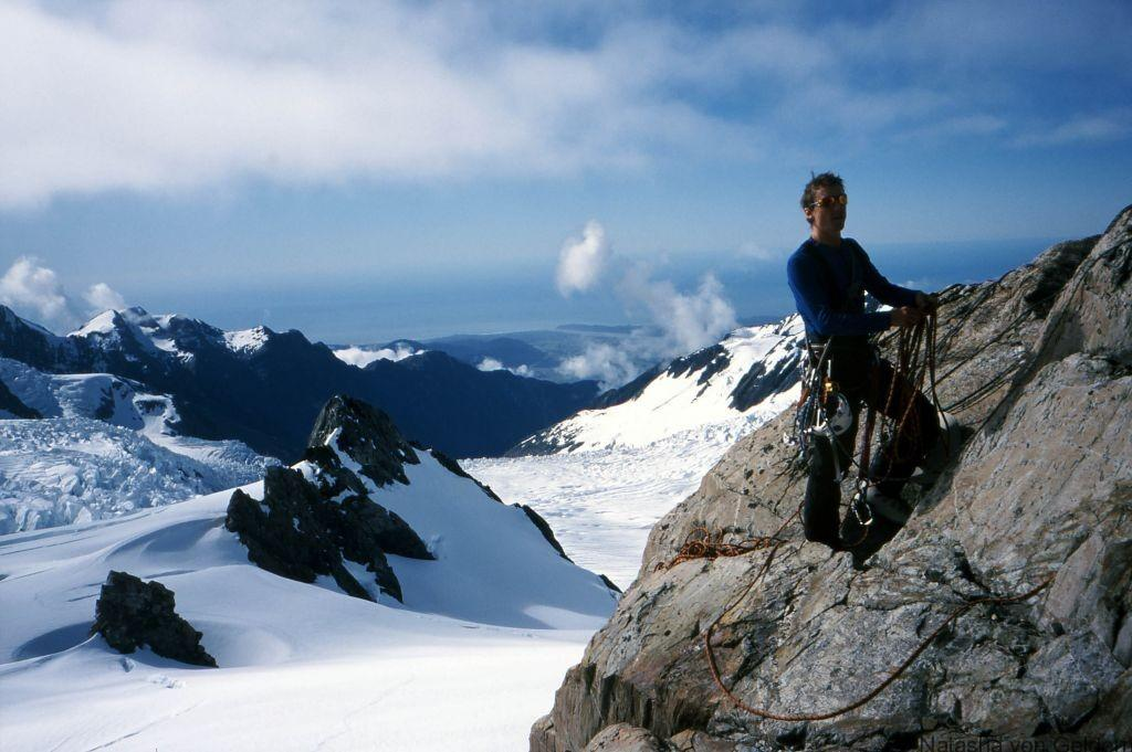 Climbing at Franz Josef Glacier New Zealand