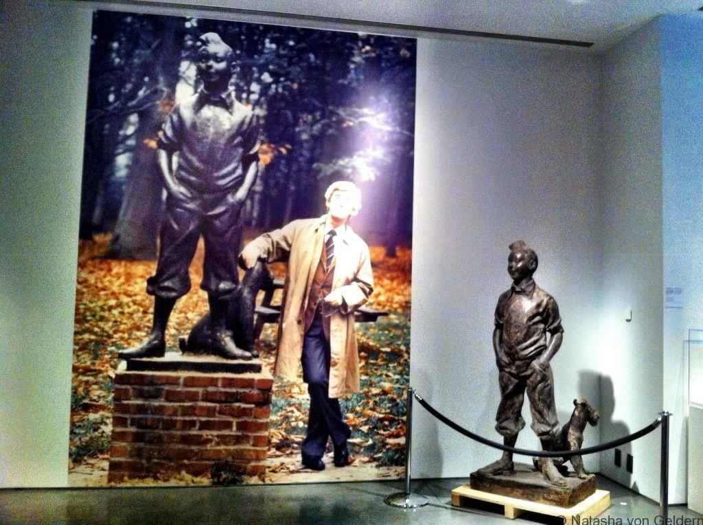 Tintin Neujean statue, Belgium