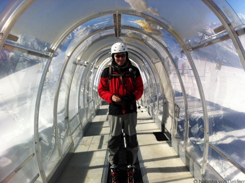 A magic carpet to the top - Pila ski resort