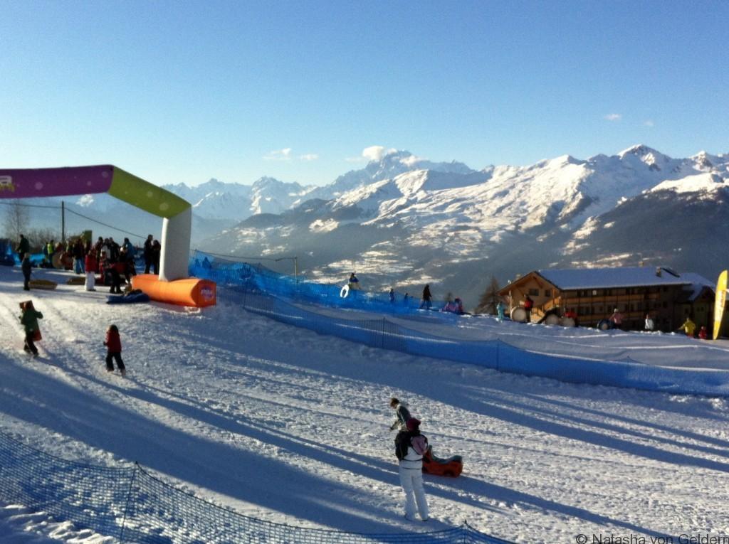 Pila snow fun park, Italian Alps
