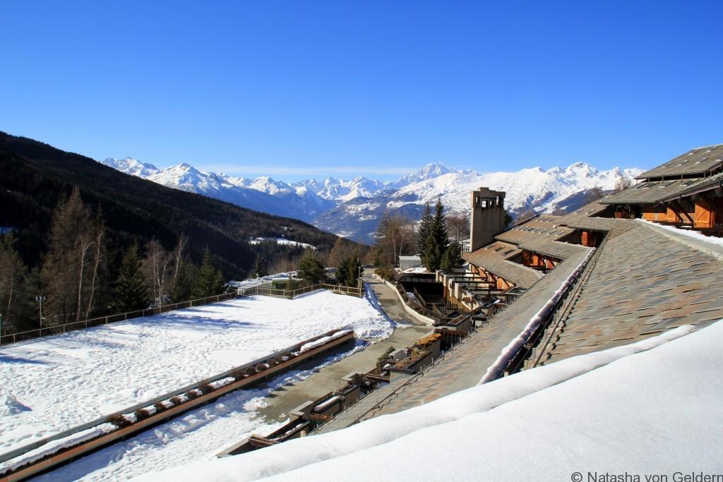 View from Residence Ciel, Pila ski resort