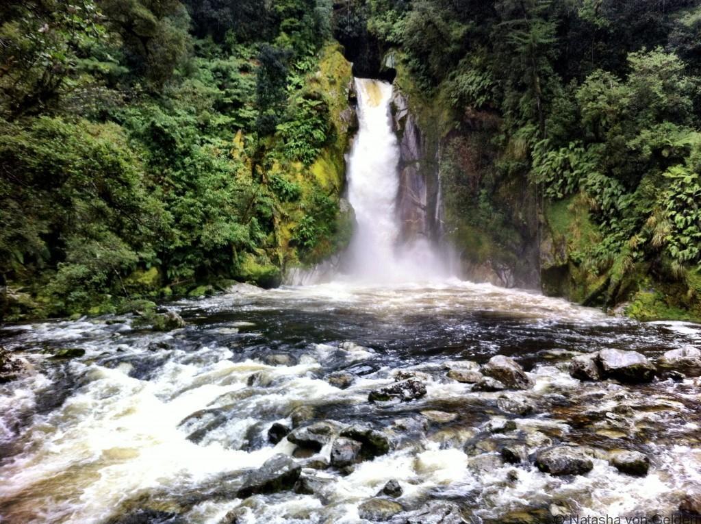 Waterfall Milford Track, New Zealand, Photo by Natasha von Geldern