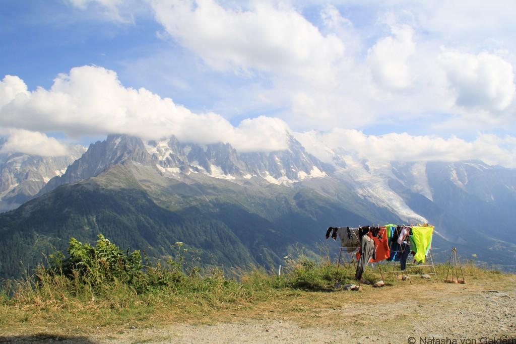 Laundry on the Tour du Mt Blanc