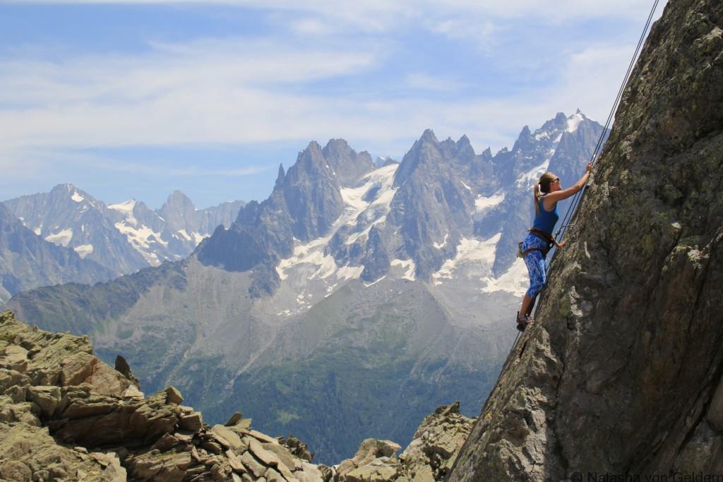 Le Brevent rock climbing, France