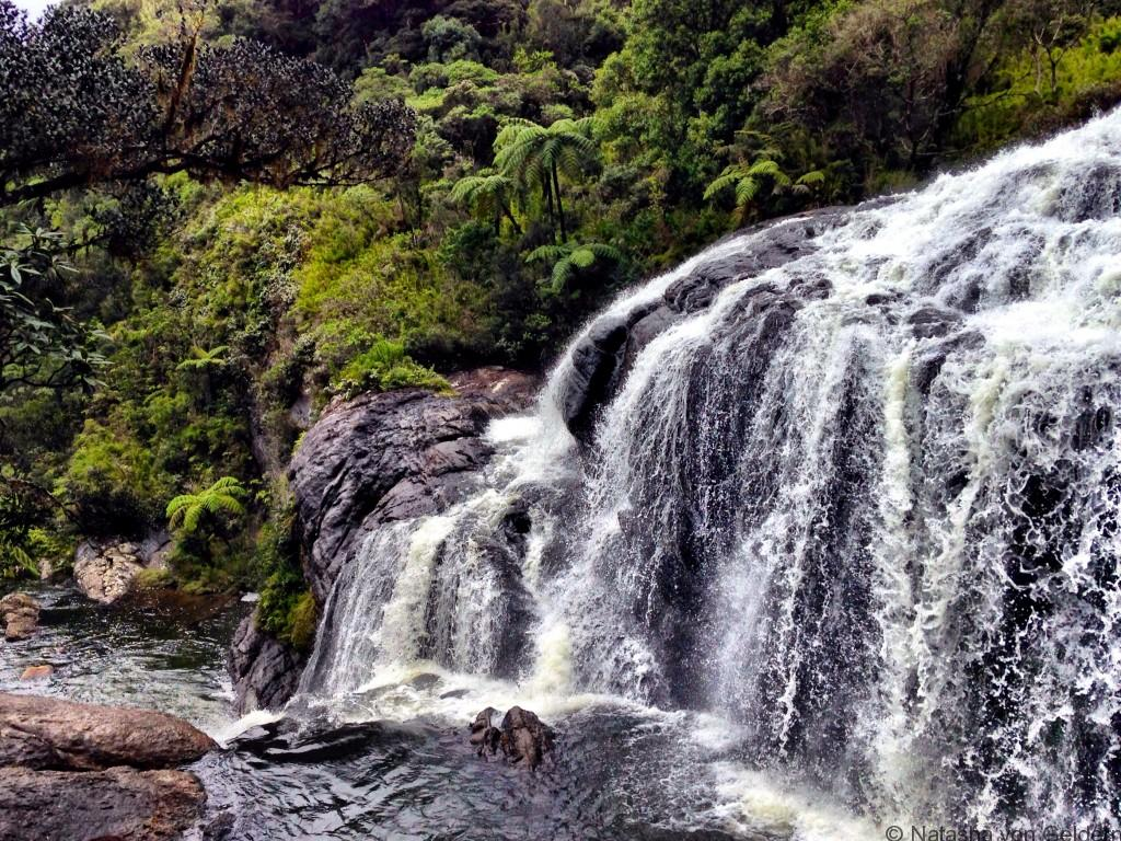 Bakers waterfall World's End Walk Horton Plains Sri Lanka