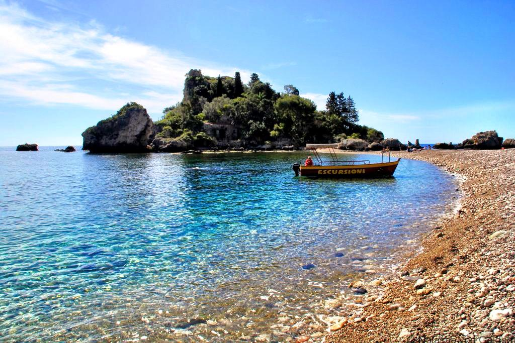Isola Bella from the beach Sicily