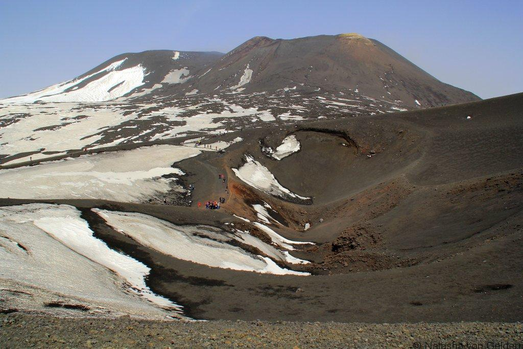 Craters and summit of Mt Etna Sicily