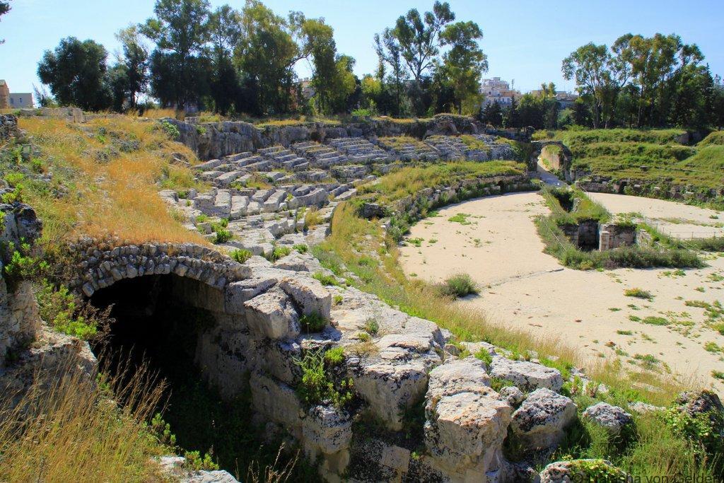 Roman arena Neapolis Syracuse Sicily