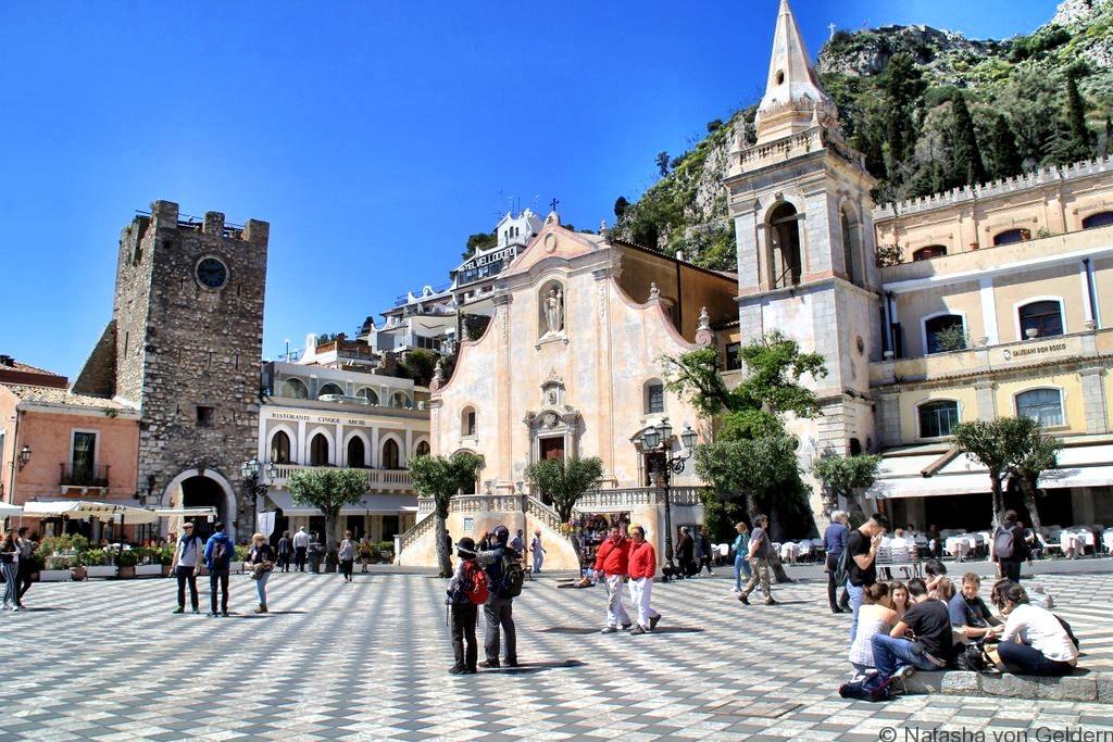 Taormina piazza Sicily