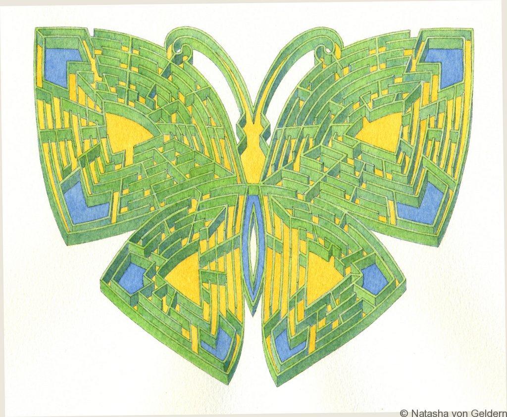 Les Jardins de Colette papillon labyrinth