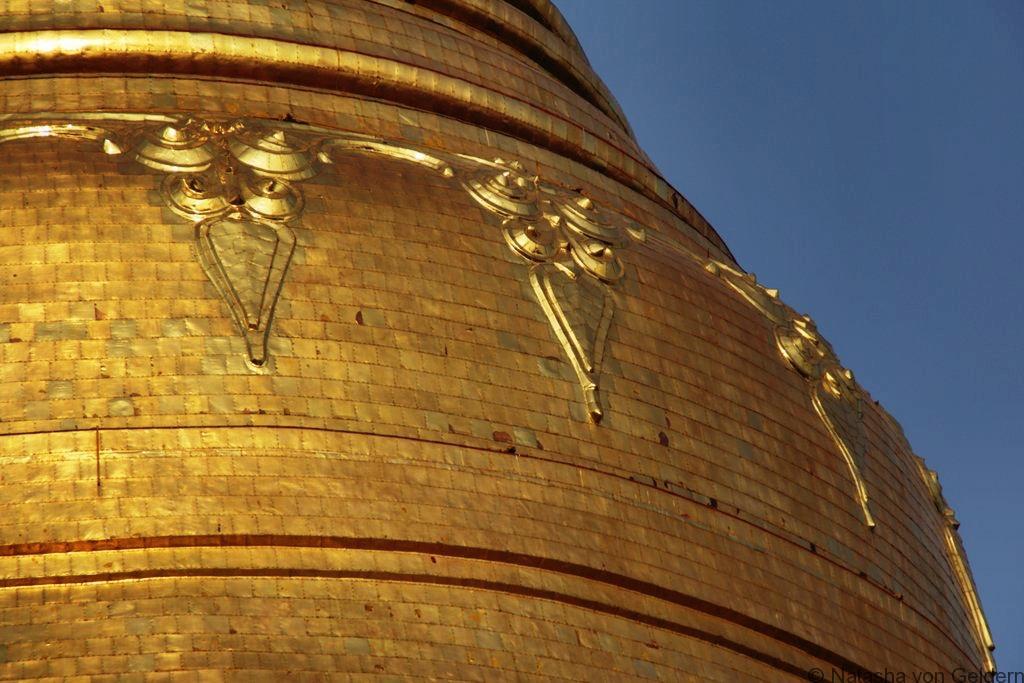 Shwedagon Pagoda Yangon Myanmar close up