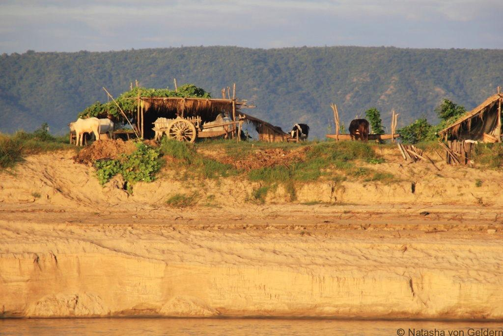 Ayeyarwady River life Mandalay to Bagan boat Myanmar