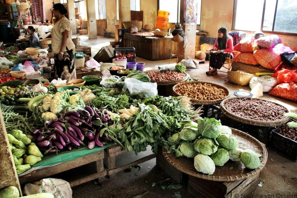 Colourful markets of Mandalay Myanmar