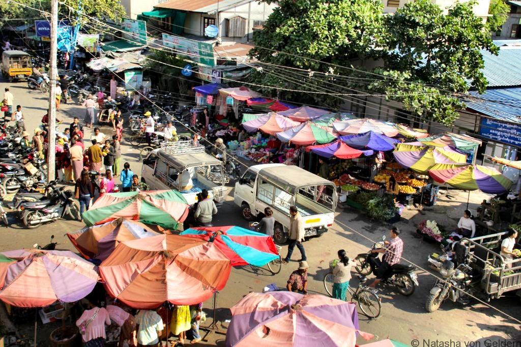 Mandalay street scene Myanmar